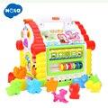 HOLA 739 Brinquedos Do Bebê Musical Multifuncional Casa de Diversão Musical Eletrônico Blocos Geométricos Classificação De Aprendizagem Brinquedos Educativos Presentes