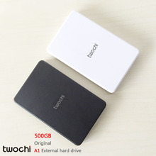 """Free shipping New Styles TWOCHI A1 Original 2.5"""" External Hard Drive 500GB Portable HDD Storage Disk Plug and Play On Sale"""