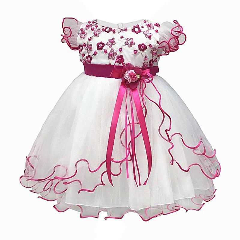 cf91f77248b 1 año vestido de cumpleaños trajes ropa de bebé niñas vestido de fiesta  infantil princesa bebé niña ropa Floral bebé vestido de Navidad