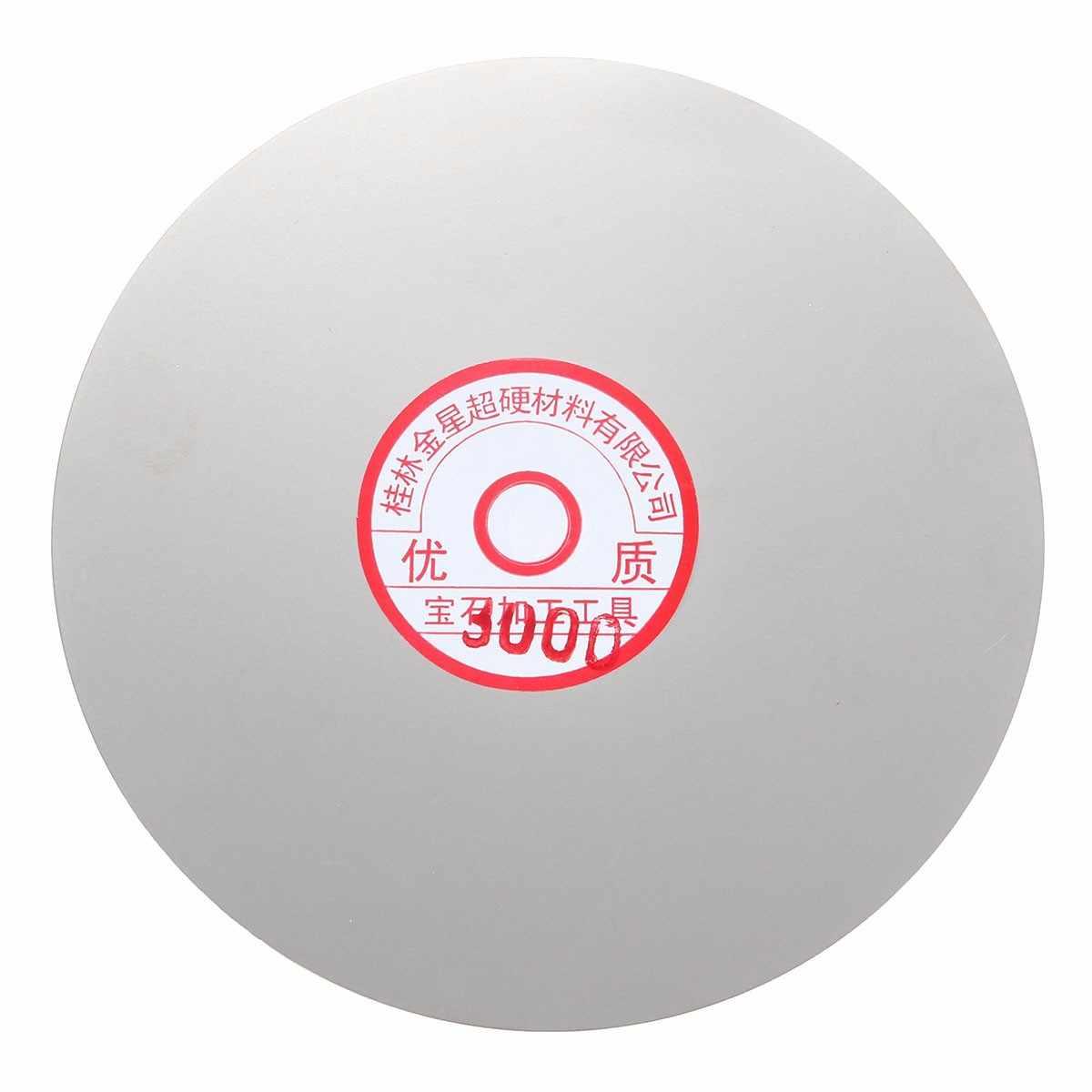 Juego de disco de pulido de 3 piezas de 6 pulgadas de 600 #1500 #3000 con revestimiento de diamante joyería de cristal de roca