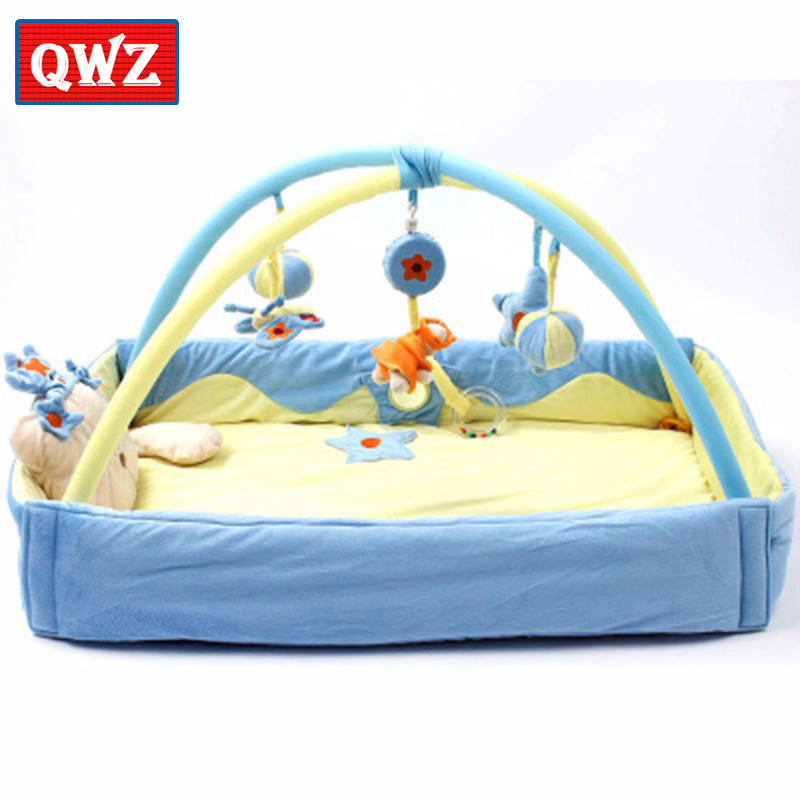 Baby Activity Gym,Increase baby animal crawling mat Music game blanket Game pad rattle toy Baby sleep play interactive toy