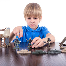 Военная серия Одинокий волк лагерь мини частицы Дети Строительный блок кукла игрушка для детей Рождественский подарок