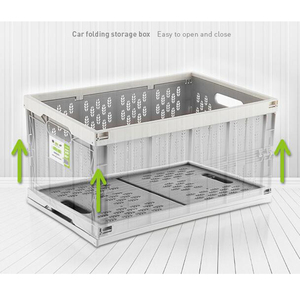 Image 3 - auto car folding storage box car organizer Multi function Plastic car debris storage box trunk organizer travel freeshipping