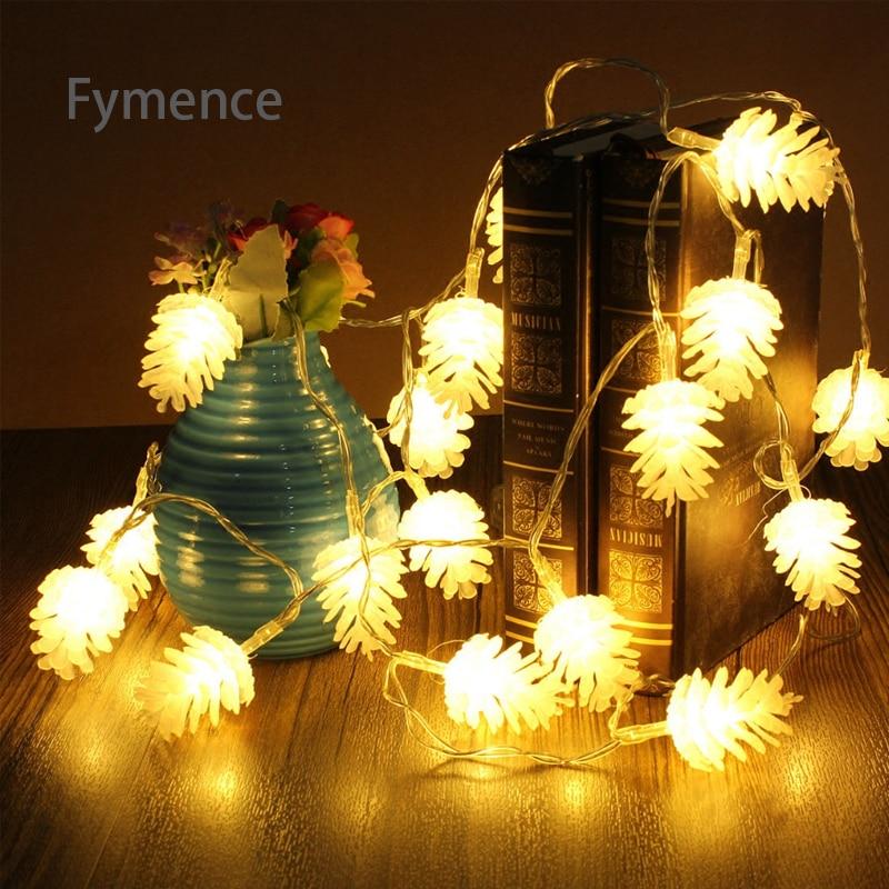 3* 10M 100 LED String Lights Cedar Nut Mount for Patio Garden Bedroom Party Valentines Lamp Wedding Restaurant Holiday