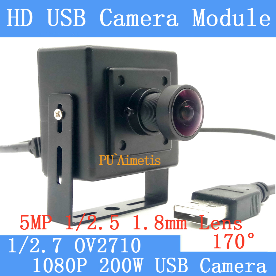 1080P Full Hd MJPEG 30fps High Speed CMOS OV2710 170 degree wide angle Mini Surveillance camera Linux UVC Mini USB Camera top high speed full teeth piston