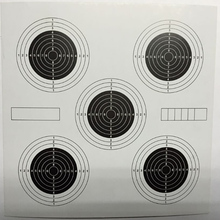 Targeted Paper Different Models 20 per pack 5.5 * 5.5 inches Suitable for Paintball Guns, BB Guns, Air Guns Shooting