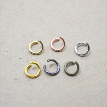 100pcs 1.2x8mm Metal Open Single Loops Jump Rings & Split Ring Connector for Bracelet Necklace Key Chain DIY Jewelry Making Z955