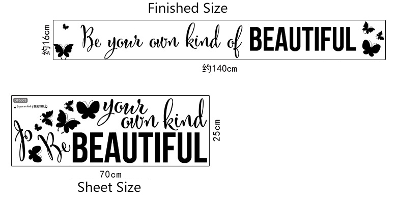 Be Your Own Kind Of Beautiful Wall Art wall art quotes picture - more detailed picture about be your own