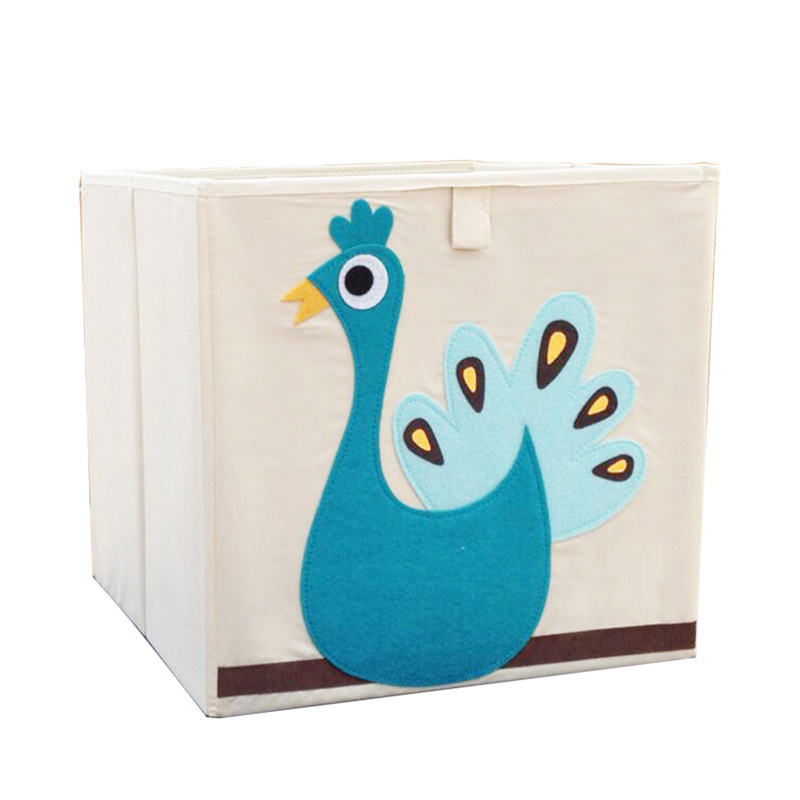 BONAMIE Travel Bag 3D Embroider Cartoon Animal Fold Storage Box Children Sundries Storage Kid Toy Clothes Organizer Box