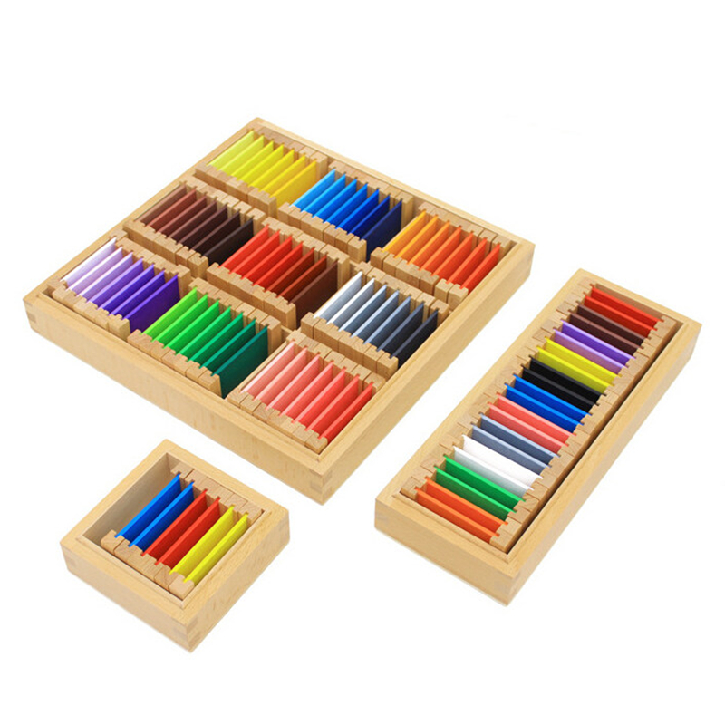 Toys For Early Childhood : Baby toy montessori wood color tablet rd box early
