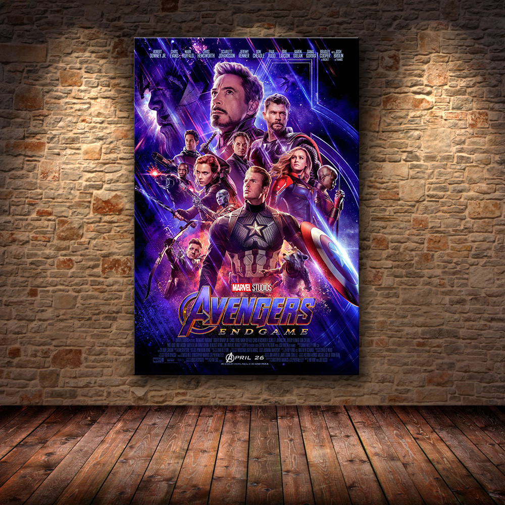 The Avengers four Endgame 2019 Sizzling New Superhero Film Artwork Portray Silk Canvas Poster Wall House Decor Portray & Calligraphy, Low-cost Portray & Calligraphy, The Avengers four Endgame 2019...