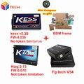 Lo nuevo Kess V2 OBD2 Gerente de 4.036 V2.30 + 2.13 FW6.070 Ktag K-TAG ECU Programador FGtech Galletto 4 Master v54 + Adaptador Marco de BDM