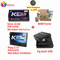 Newest Kess V2 4.036 V2.30 OBD2 Manager+K-TAG 2.13 FW6.070 Ktag ECU Programmer+FGtech Galletto 4 Master v54+BDM Frame Adapter