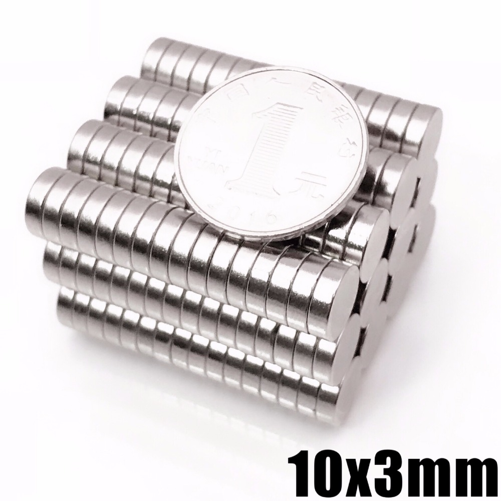 10/20/50/100Pcs Neodymium Magnet Disc 10x3mm N35 Small Round Strong Powerful Magnetic Magnets For Craft Permanent NdFeB 10*3