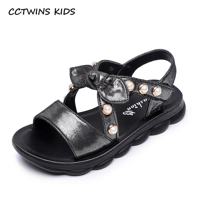 CCTWINS Kids Shoes 2019 Summer Girls Fashion Bow Tie Pearl Sandals Children Beach Flats Toddler Baby Soft Barefoot Shoes BS338CCTWINS Kids Shoes 2019 Summer Girls Fashion Bow Tie Pearl Sandals Children Beach Flats Toddler Baby Soft Barefoot Shoes BS338