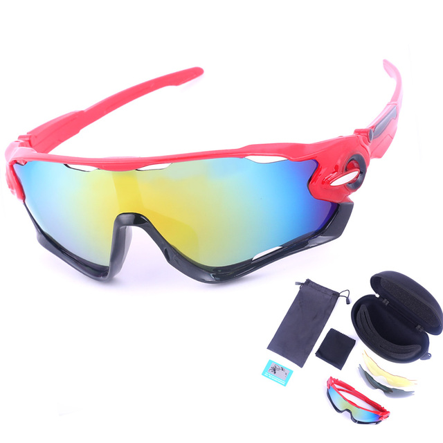 971ceb477b250 3 Types Bicycle Glasses Polarized Sunglasses Kits Multi Color Dustproof Lens  Frame Glasses Motorcycle Ski Goggles