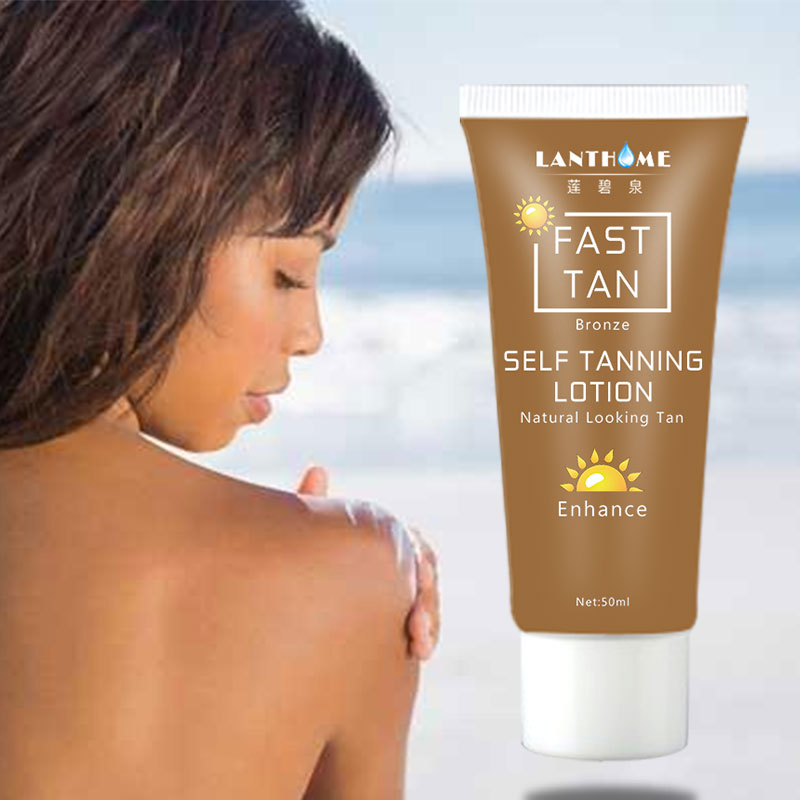 Lanthome Sun Tan Cream Self Tanner Body Bronzer Tanning Oil Lotion Sunblock Makeup Foundation Fast Spray Tan Solarium Cream