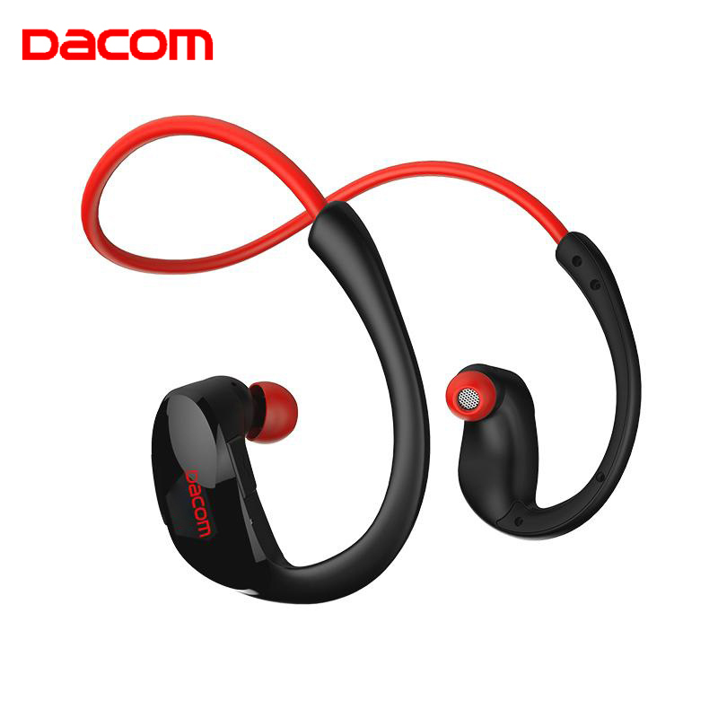 Dacom Athlete Bluetooth Headset Wireless Headphone BT4.1 Sukan Stereo Earphone dengan HD Mic NFC auriculares untuk iPhone Samsung
