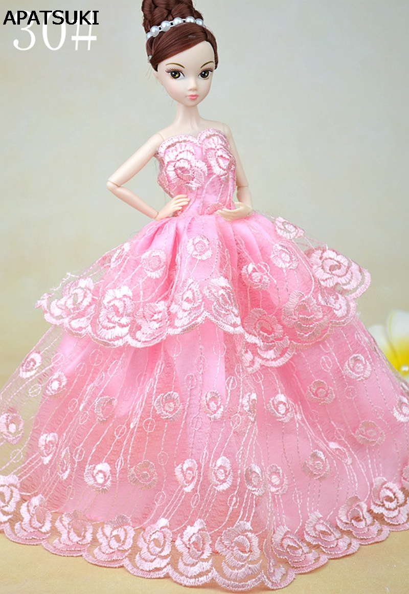 Superb Doll Clos Girl Birthday Dolls Accessories From Toys On Pink Wedding Dress Pink Wedding Dress Barbie Dolls Vestido Gown Long Evening Dress Barbie Dolls Vestido Gown Long Evening Dress