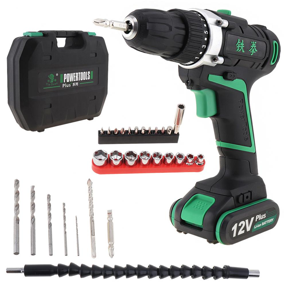 100 - 240V Cordless 12V Electric Drill / Screwdriver with  Switch and Plastic Box 29pcs  Set for Handling Screws / Punching high tech and fashion electric product shell plastic mold