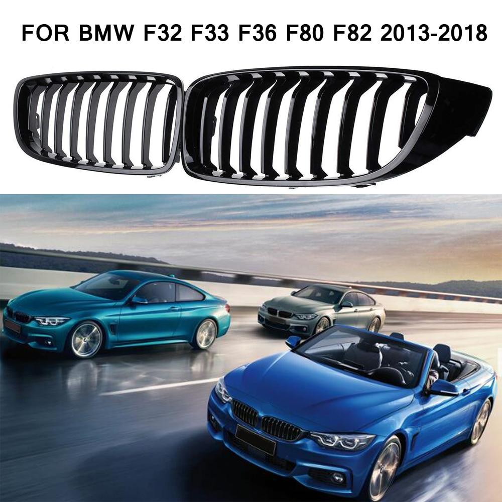 Черная передняя решетка планка M4 Стиль гриль для BMW F32 F33 F36 F80 F82 2013-2018 Кабриолет купе 425i 430i 440i 435i