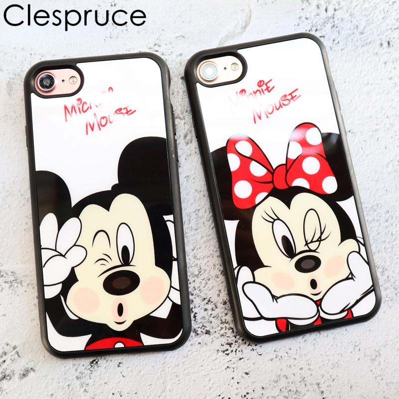 Moda Amantes Dos Desenhos Animados Do Rato Mickey Minnie Caso Capa