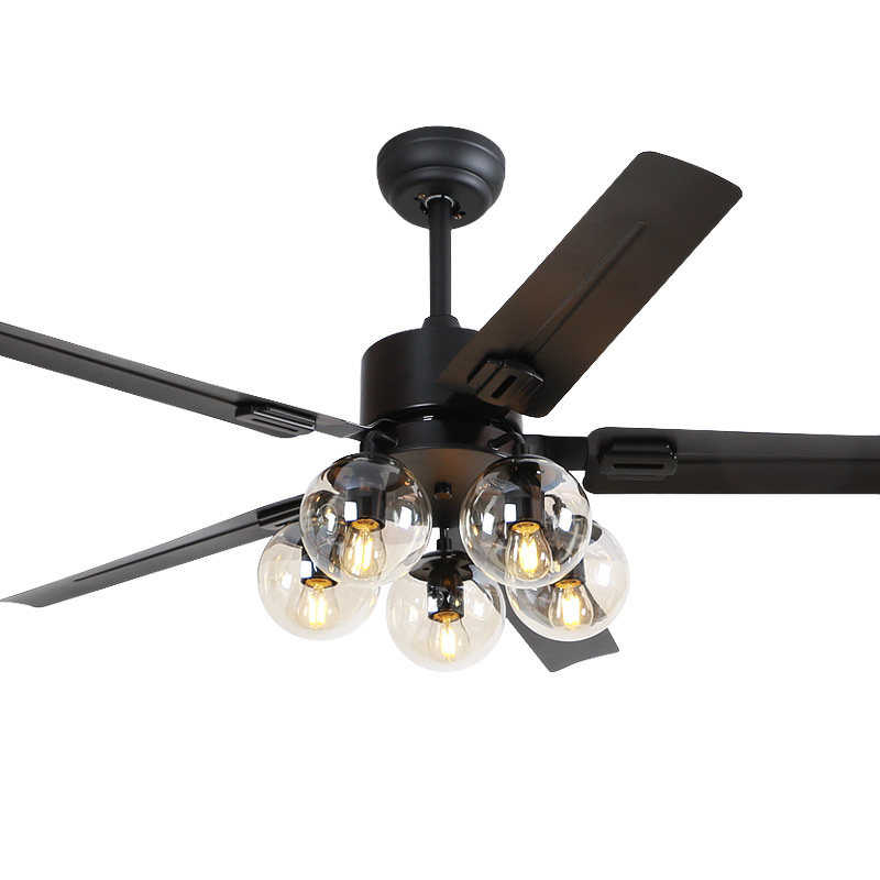 Черный Винтаж потолочный вентилятор с дистанционное управление освещением, Ventilador De Techo 220 вольт Спальня потолочные светильники вентилятор лампа E27 лампы