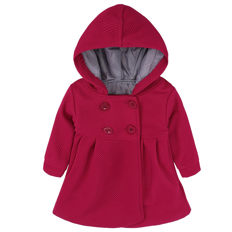Children Girls Outerwear Autumn Winter Cotton Hoodie Long Sleeve Coats Toddler Casual Jacket Clothings(China)