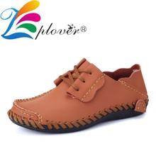 купить 2019 New Men Casual Shoes Split Leather Shoes Men Flats Hollow Summer Loafers Moccasins Boats Shoes Plus Size дешево