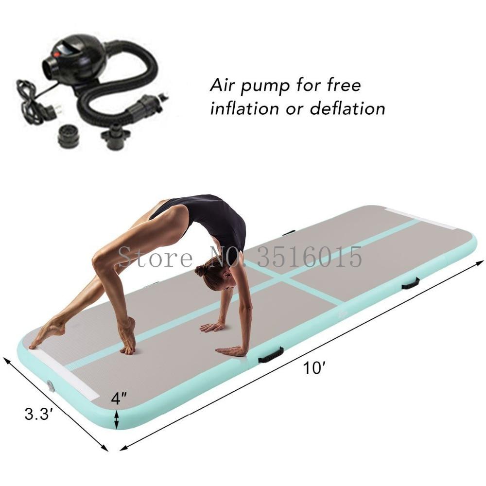 10x3,3 ft Надувные Гимнастика воздуха трек акробатика коврик воздушный акробатика с электрическим насосом для черлидингу, главная, воды, парк