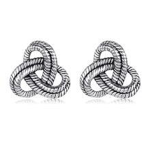 61d23ca519a2 Actuar el papel de nuevo pendiente retro celta nudo pendientes plata 925  fabricante fuente compromete al por mayor