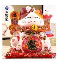 Большой ручной Электрический cat Япония Керамика натуральная рабочей силы молоток Керамика украшения ремесла упаковка подарочная коробка д