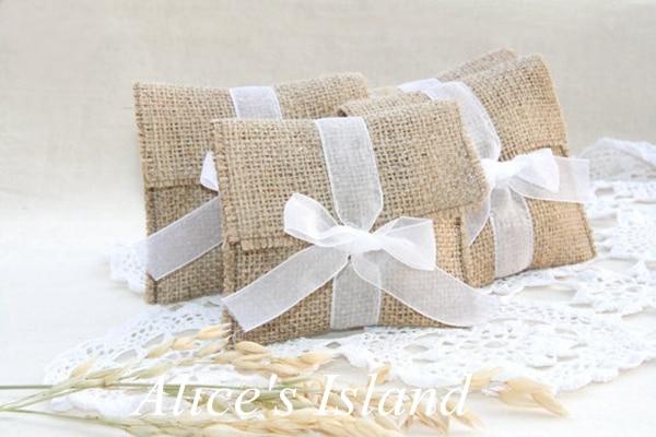Buy 12pcs lot rustic favor bags country for Decorative burlap bags