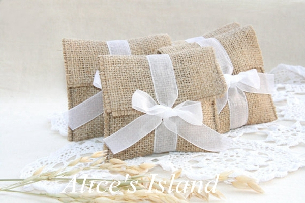 12pcslot Rustic Favor Bags Country Wedding Favors Burlap Wedding