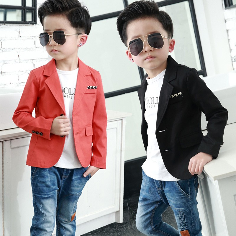 1726ed448 2018 New Solid Baby Boy Blazer Coats Baby Boy Clothes Gentleman Boys ...