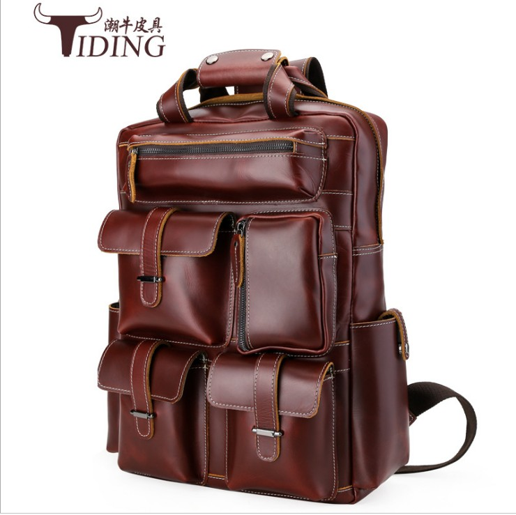 Famous Brand Bag men Backpack male England Style Designer High Quality genuine Leather Backpack Men travel backpack bags big s c cotton brand backpack men good quality genuine leather