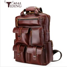 Famous Brand Bag men Backpack male England Style Designer High Quality genuine  Leather Backpack Men travel backpack bags big  ulrica 2017 new arrival vintage casual new style leather school bags high quality hotsale women famous designer brand backpack