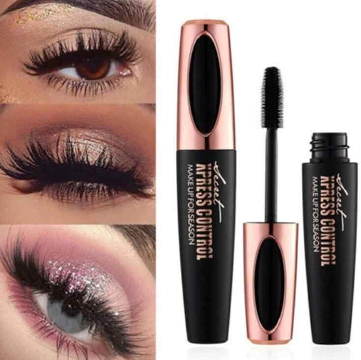 2018 Makeup Eyelash Mascara Eye Lashes Makeup 4d Silk Fiber Lash Mascara Drop Shipping Long Curling Black Waterproof Mascara
