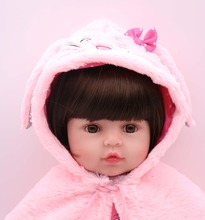 19 inch 47 cm newborn baby doll bebe reborn soft silicone doll wholesale toy children Christmas gift