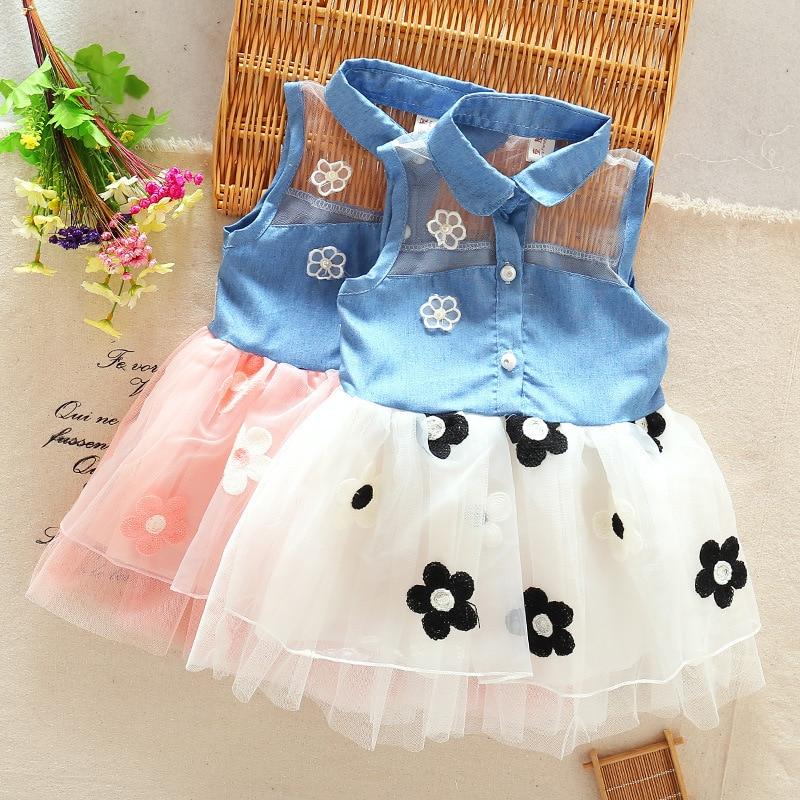 Xemonale-New-Clothing-Princess-Baby-Girls-Kids-Denim-Sleeveless-Tops-Tulle-Tutu-Mini-Dress-X16-2