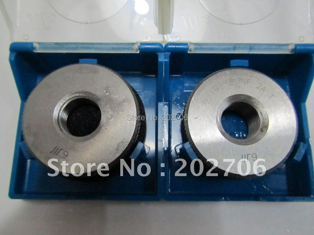 Factory Outlet 9 16 18 UNF Thread Ring Gage TPI Gauge Highquality