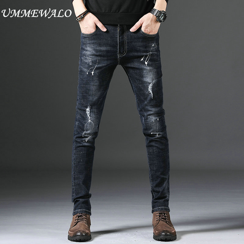 2019 Mens Big Flared Jeans Boot Cut Leg Flared Loose Fit high Waist Male Designer Classic