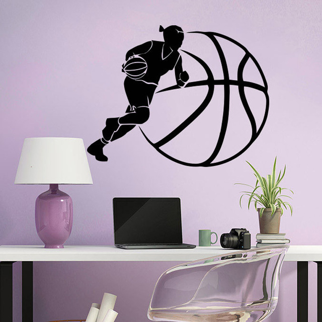 Woman Basketball Wall Decals Vinyl Wall Stickers For Kids Teens Nursery  Baby Room Home Decor GYM