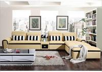 modern style living room Genuine leather sofa a1318