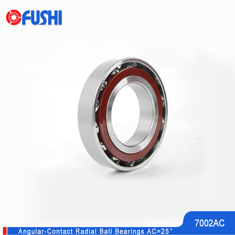7002 AC Angular Contact Bearing 15*32*9 Mm 2Pcs Spindle Bearings CNC ABEC-1 25 Contact Angle 7002AC Ball Bearings