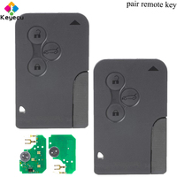 KEYECU Pair Smart Remote Car Key 3 Buttons& 433MHz& PCF7947 Chip FOB for Renault Megane Scenic 2003 2004 2005 2006 2007 2008