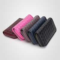 new European key wallet sheepskin woven key bag genuine leather key bag