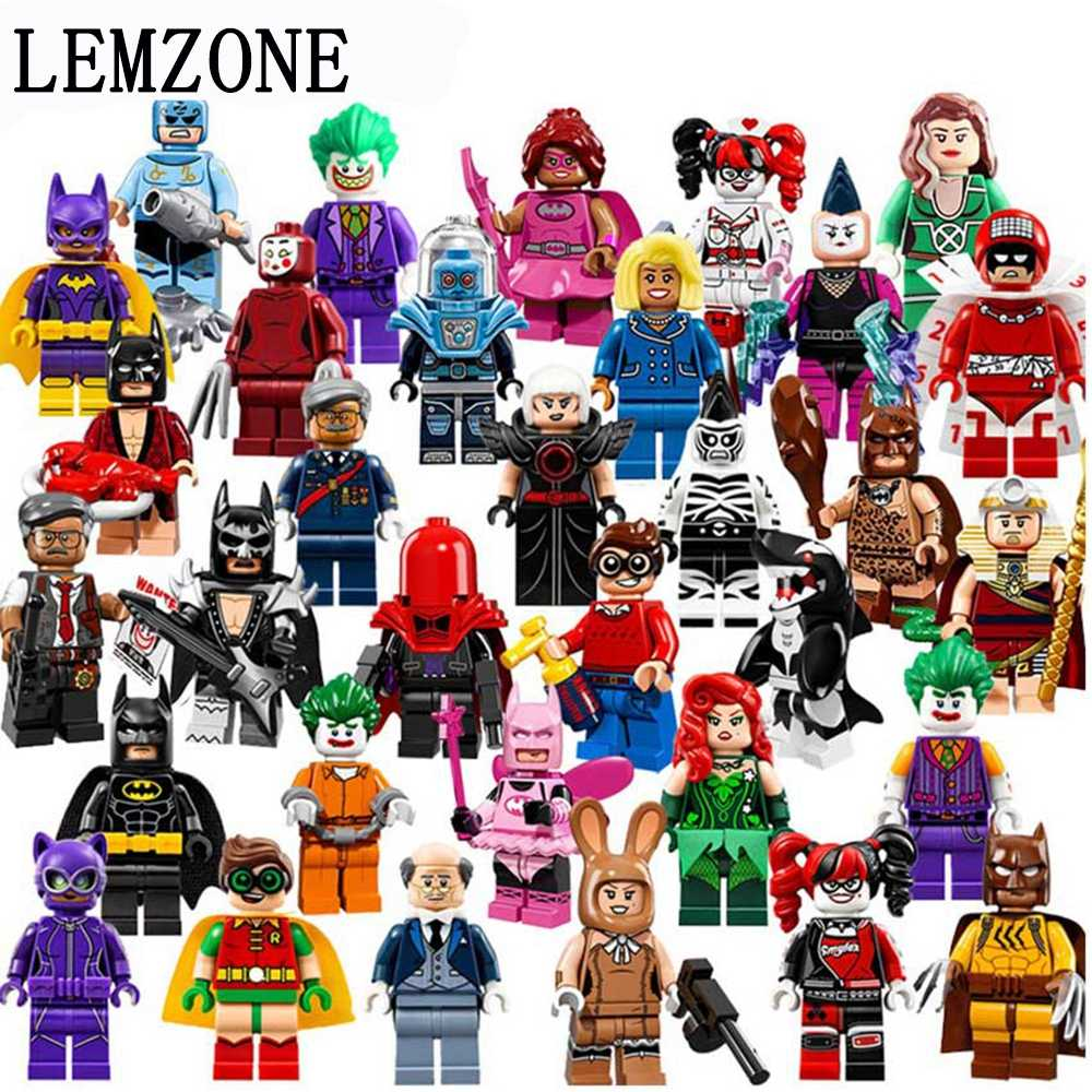 1pcs Avengers Batman Joker Robin Logan X-Men Super Heroes horror Building Blocks Figures Toys Compatible With LegoINGly Batman