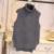 2016 Moda Primavera Otoño de Las Mujeres Sin Mangas de Punto Chaleco Suéter Mujer Jersey de Cuello Alto suéter de invierno chaleco veste femme