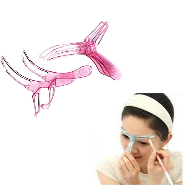 Easy To Use Eyebrow Stencil Makeup KIt DIY Template Stencil Shaping Tool/5pcs